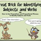 Great Trick for Identifying Subjects and Verbs in a Senten