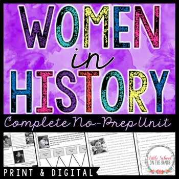 Great Women in History Unit - No Prep * Women's History Month