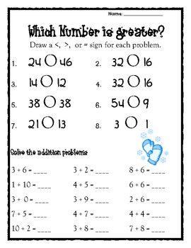 Greater Than Less Than Math Practice