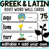 Greek & Latin Roots {word wall cards}