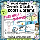 Greek & Latin Word Stems FREE Bonus Week: The Five Senses