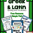 Greek and Latin Word Roots - Free Resource Sampler