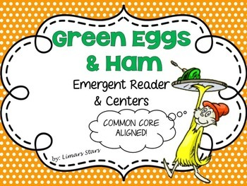 Green Eggs and Ham Emergent Reader & Centers