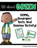 Green ~ Song and Emergent Readers!