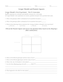 Gregor Mendel and Punnett Squares Worksheet