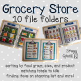 Grocery Store File Folder Activities (special education)