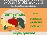Grocery Store Words II: For Special Education Students