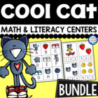 Groovy Cat Math and Literacy Centers {BUNDLE}