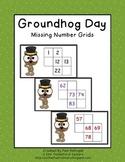 Groundhog Missing Number Grids 0-100