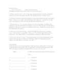 Group Project handout for novels or plays