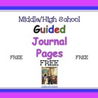 Guided Journal Pages -  Free Pages
