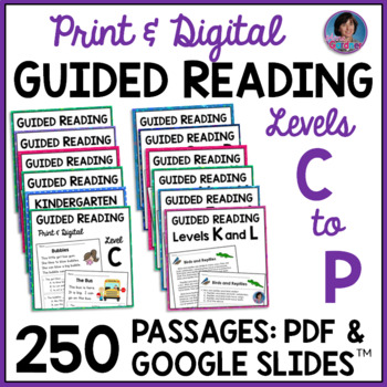 Ultimate Reading Comprehension Bundle ~ Guided Reading Levels C - L