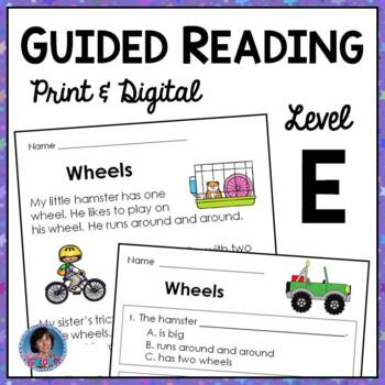 Guided Reading Level E: Comprehension Passages with Text-Based Questions