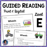 Guided Reading Level E: Comprehension Passages with Text-B