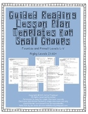 Guided Reading Small Group Lesson Plan templates Level L-V