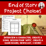 FREE Guided Reading or Novel Study End of Book Project Choices