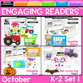 Guiding Readers: October NO PREP ELA Unit for K-1