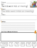 HALLOWEEN WORD WORK LITERACY ACTIVITY: Read.Trace.Build&Write It!