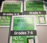 *HARD COPY* Practice & Assess READING INFORMATIONAL TEXT D