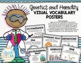 HEREDITY - Visual Vocabulary Cards Heredity and Genetic Traits