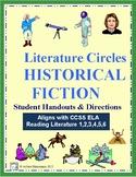 Literature Circles for Historical Fiction - Response Sheet