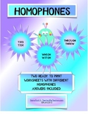 HOMOPHONES ACTIVITY