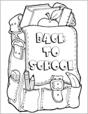 HUGE Back to school poster that students can color!