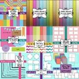 HUGE Seller's Toolkit Bundle #2! Digital Papers, Borders,