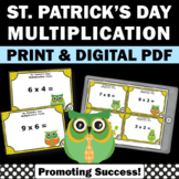St. Patrick's Day Multiplication Facts Task Cards Common C