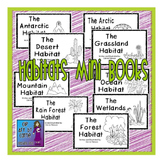 Habitats Mini Books: Set of 9 Emergent Readers