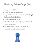 Habits of Mind Writing Activities, Reward System, and Quiz