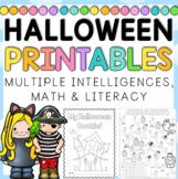 Halloween BLM Unit Worksheets, Multiple Intelligences - 40 pages
