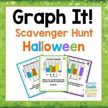 Halloween Bar Graph Scavenger Hunt