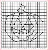 Halloween Coordinate Graphing / Ordered Pairs - Jack O' Lantern