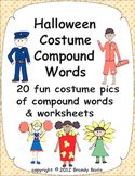 Halloween Costume Compound Words, Pictures, and Worksheets
