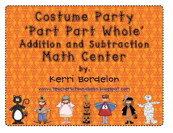 Halloween Costume Party Addition and Subtraction Math Center