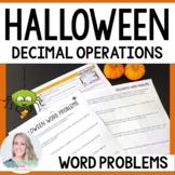 Halloween Decimal Word Problems