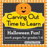 Halloween Differentiated Work Pages for Grades 1-4