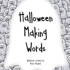 Halloween Making Words Worksheets