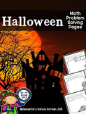 Halloween Math Problem Solving Pages - Add, Subtract, Mult