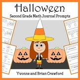 Halloween Math Journal Prompts (2nd grade) - Common Core