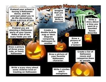 Halloween Menu Options