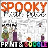 Halloween Math Morning Work/Homework: CCSS-Aligned to Grad