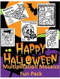Halloween Multiplication Mosaic-Color By Number Pack-FUN!