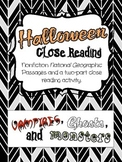 Halloween Nonfiction Close Reading Activitiy