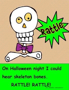 Halloween Onomatopoeia Craftivity and Bulletin Board Set