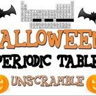 Activity: Halloween Periodic Table unscramble