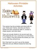 Halloween Printable Worksheets