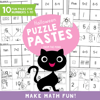 Halloween Puzzle Pastes - Number Concepts - Cut Paste Worksheets