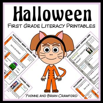 Halloween Quick Common Core Literacy (1st grade)